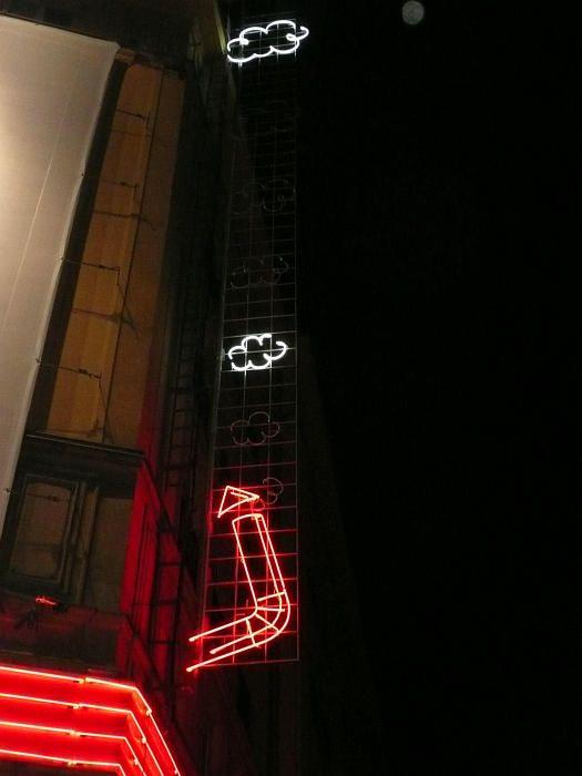 U Szwejka restaurant neon in Warsaw