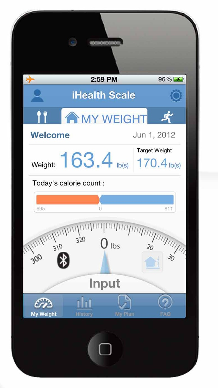 The iHealth Digital Scale app free at the App Store, works with the iHealth Digital Scale. Easily record daily weight measurements on your mobile device with wireless Bluetooth connection, even when you're on the go.