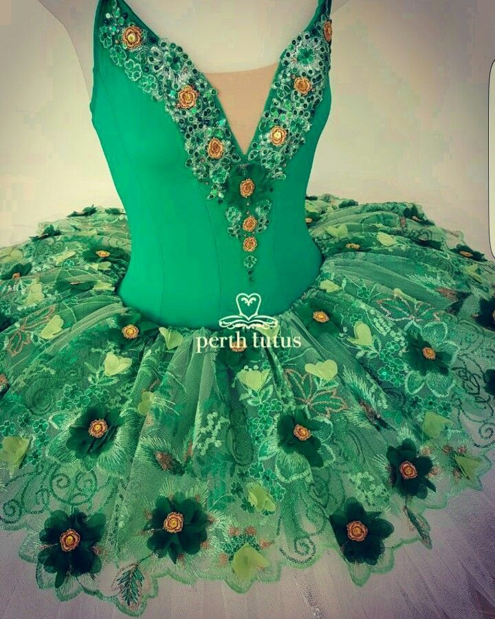 Custom stretch tutu by Perth Tutus. Emerald Fairy from The Sleeping Beauty.