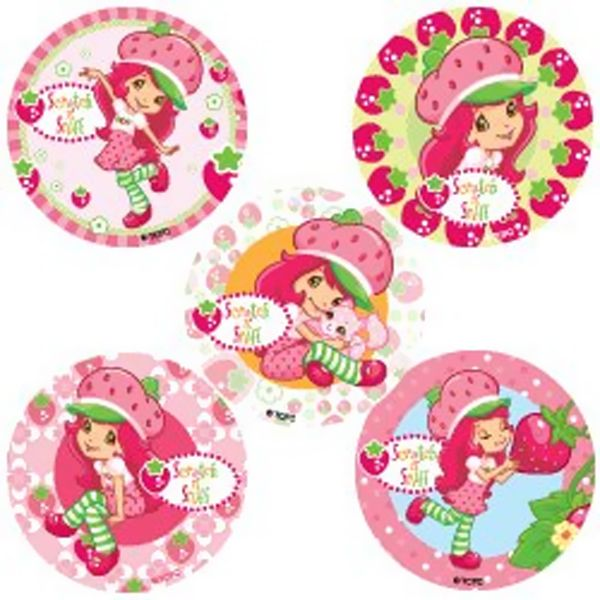 Strawberry Shortcake  | Strawberry Shortcake Scratch and Sniff Value Stickers (5)