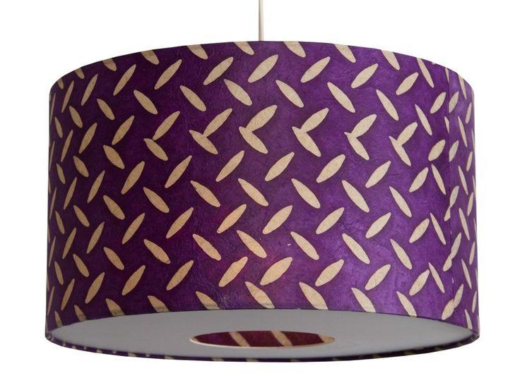 Anglesey Paper Company, Paralume a tamburo Batik Treadplate, Viola (violett): Amazon.it: Illuminazione