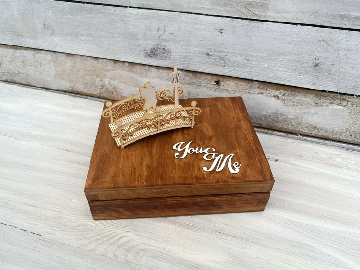 personalized wedding ring box, bridal, retro, vintage, wedding ring, 3d couple, wooden box by jkopiece on Etsy