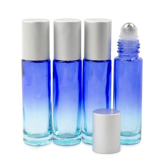 12 Pcs Ombre 10ml Glass Roll On Bottles Glass Steel Rollers Roll On Bottles Essential Oil Supplies Essential Oil Bottles