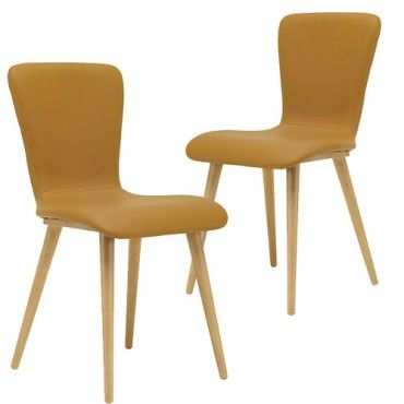 Set of 2 - Valley Dining Chair - Caramel | $369.00 - Milan Direct