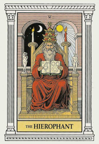 Image result for THE HIEROPHANT  HOLDING A MAP