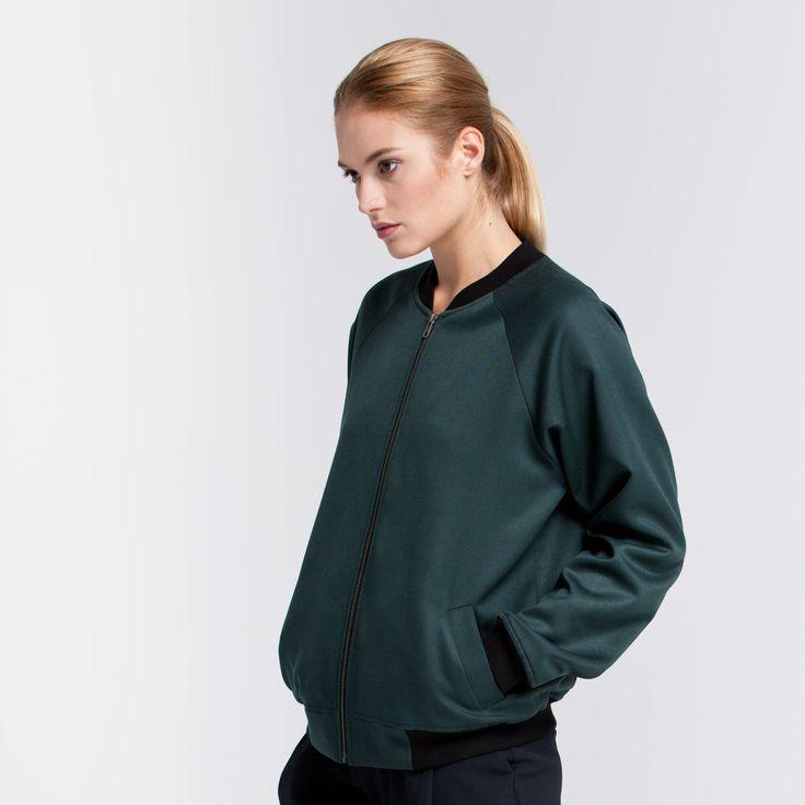 Bomber Jacket Green Elementy #bomber #jacket #wool #green #elementy #polishfashion #classic #minimal #simplicity #bomberka #polskamoda #wełna #minimalizm #aw16