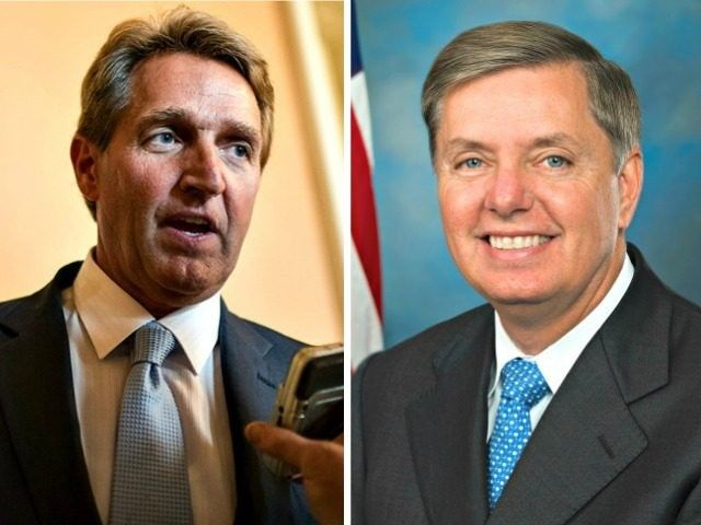 Lindsey Graham and Jeff Flake attack Trump. Self defeating RINO's that might as well be liberal Democrats!
