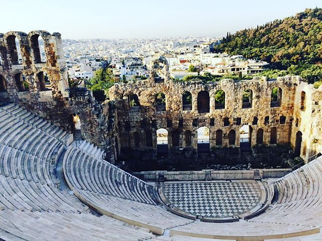 "Visit the ""Odeon of Herodes Atticus"" in #Athens! #Theater #Culture #History Photo by @fuchao94"