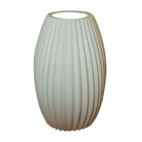 115 49 justice design group limoges tall egg accent lamp pleats 11 75h x 7 5w