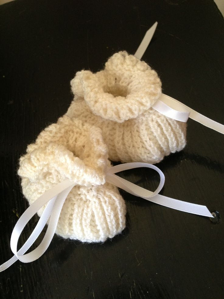 Baby booties I knitted with love