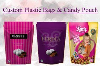 #custom plastic bags and #candy pouch for #packaging of chocolate, candies and cookies.