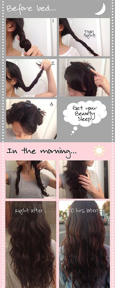 heatless overnight curls are easier than you thought!