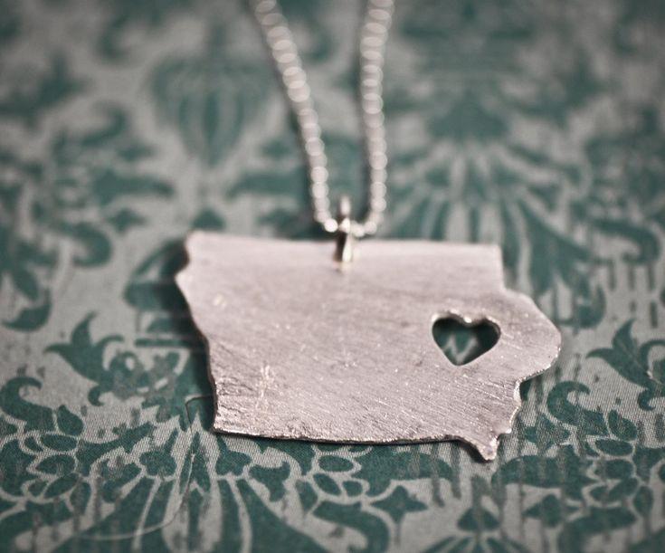 i heart Iowa.. $55.00, via Etsy.    My next purchase