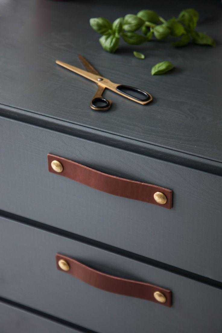 Design Studio Nu - leather handle size 5 - chestnut