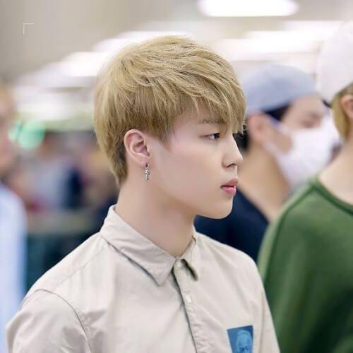 blonde korean men haircut #menshaircutideas