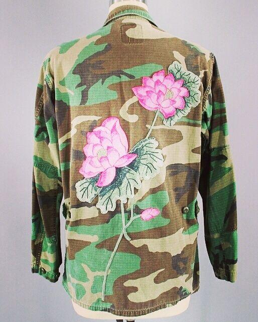 Camo Jacket Flowers / OOAK