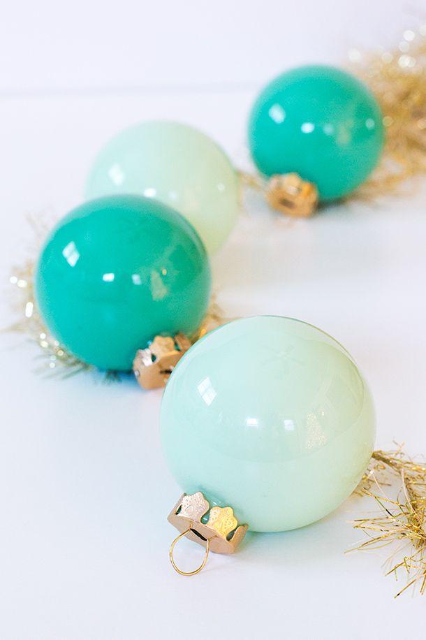 DIY: paint filled ornaments