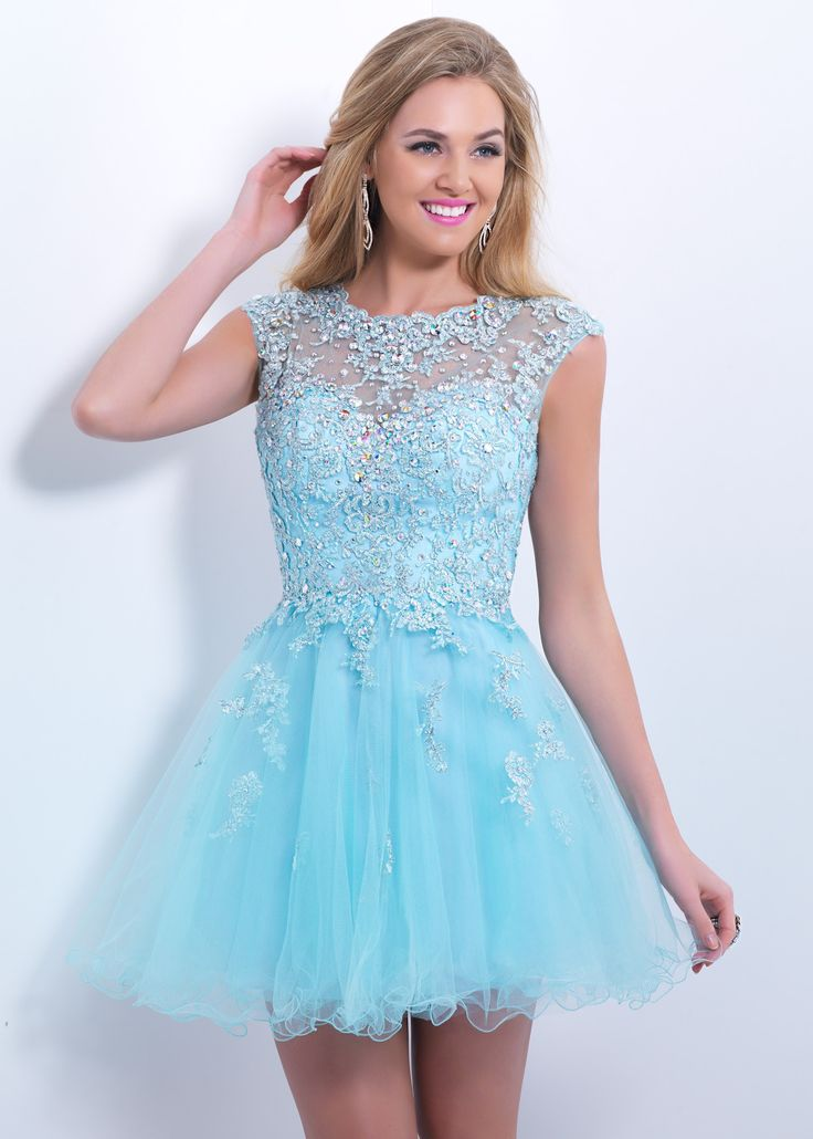 Blush Prom 9855 Lace Cocktail Dress super flirty and fun for a Sweet 16, Homecoming, Prom, or Bat Mitzvah!