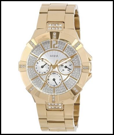 GUESS U13576L1 Dazzling Sport Watch - Gold