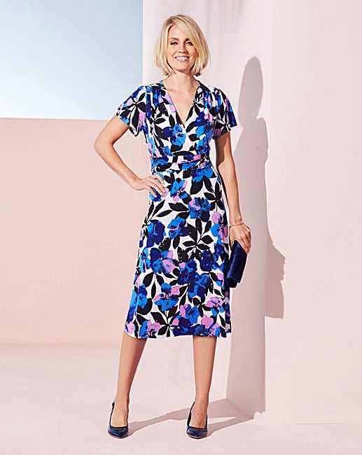 Ruched Wrap Dress L43in | Oxendales