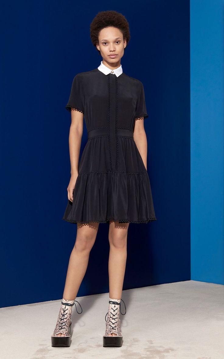 A Line Shirt Dress, BLACK, KENZO