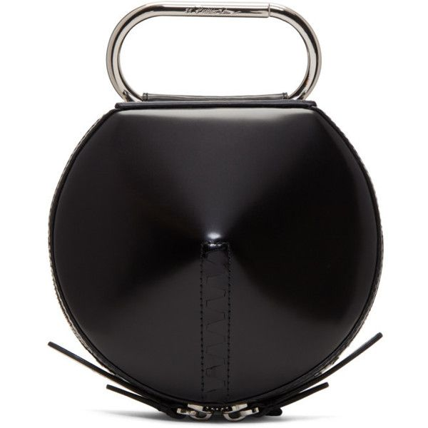 3.1 Phillip Lim Black Alix Circle Clutch ($410) ❤ liked on Polyvore featuring bags, handbags, clutches, circle handbags, circular handbag, circle purse, zipper purse and structured handbags