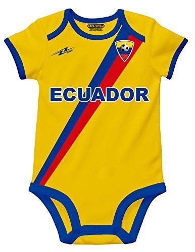 Ecuador Soccer Baby Outfit Onesie Mameluco
