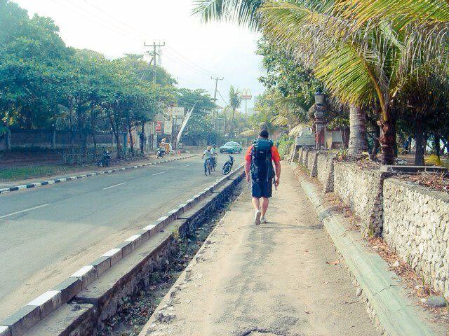Kuta, Bali, Indonesia backpacking with my hubby