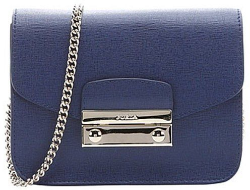 Furla navy leather mini 'Julia' crossbody bag