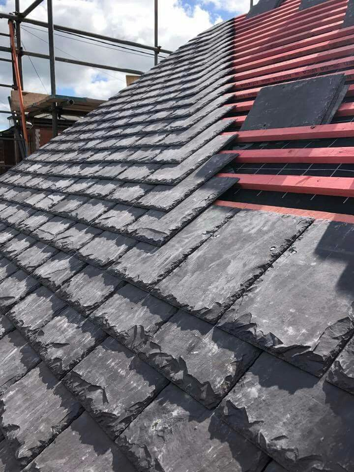 Welsh Slate Re Roof Roofers In 2019 Slate Roof Roof