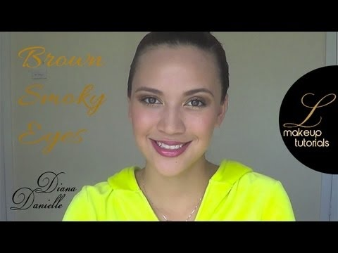Diana Danielle show us a makeup tutorial for brown/gold smoky eyes - http://youtu.be/F7GZO3utsAQ and www.luxuriacosmetics.com for all the products