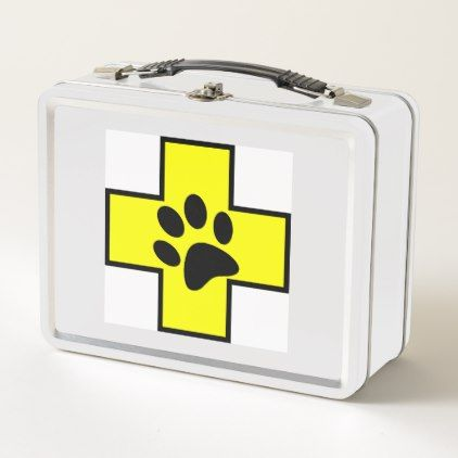 animal help cross veterinary symbol sign doctor pe metal lunch box - kitchen gifts diy ideas decor special unique individual customized