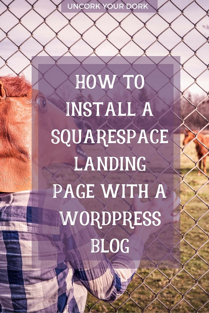 Wondering how to get both a Squarespace landing page with a Wordpress blog on the same URL? This step by step post will show you exactly how it can be done. Click the image for more! via @girlymcnerdy