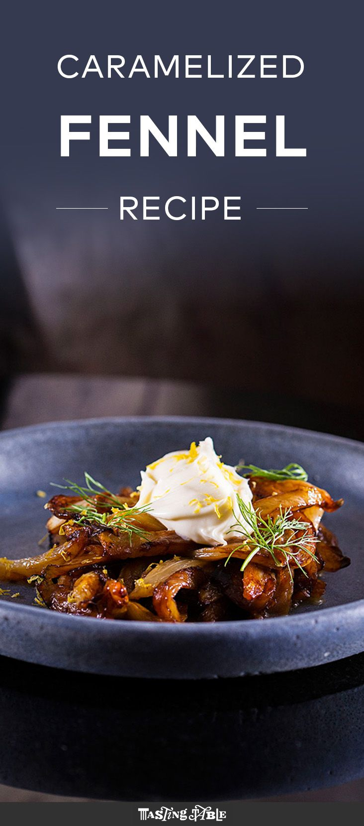 Watch and learn how to make caramelized fennel with mascarpone.