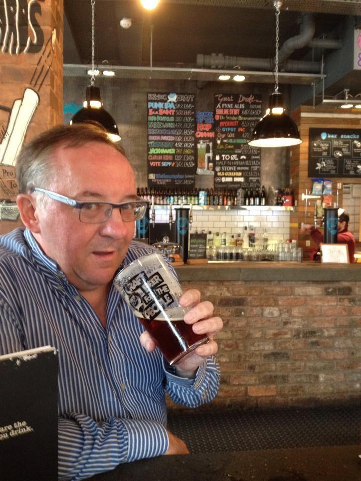 Ian drinking 5am Saint at BrewDog, Birmingham