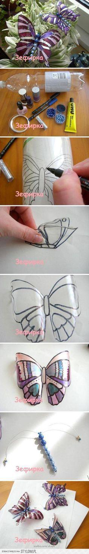 DIY plastikowe butelki Butterfly Projekty DIY | UsefulD… na Stylowi.pl