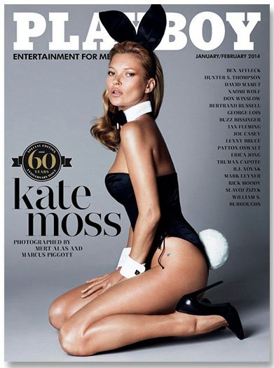 Kate Moss for Playboy 60th Anniversary Edition.