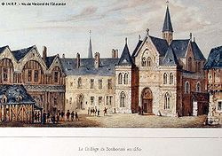 College of Sorbonne - Wikipedia | (Collège de Sorbonne) was a theological college of the University of Paris, founded in 1253