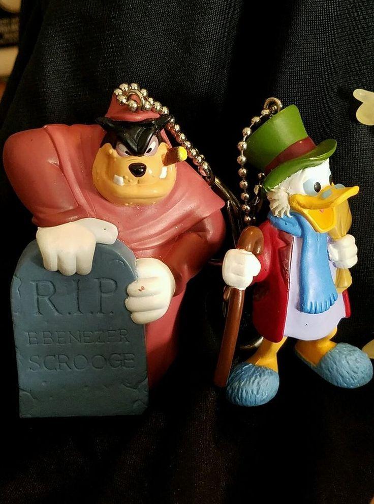 8 Disney Holiday Mickey's Christmas Carol Clip On Collection Ornaments Donald  #memorylane