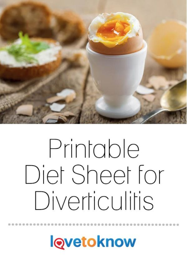 Diverticulitis sufferers often struggle with figuring out what to eat and how to introduce more foods into their diets. A diagnosis can be difficult and diet recommendations vary for an acute episode of pain versus during remission of the symptoms. Studies at the Mayo Clinic show that diet alone can't cure diverticulitis but may help to relieve some of the symptoms. Avoiding foods that cause the symptoms to worsen may offer relief and shorten the episodes of discomfort. | Printable Diet…