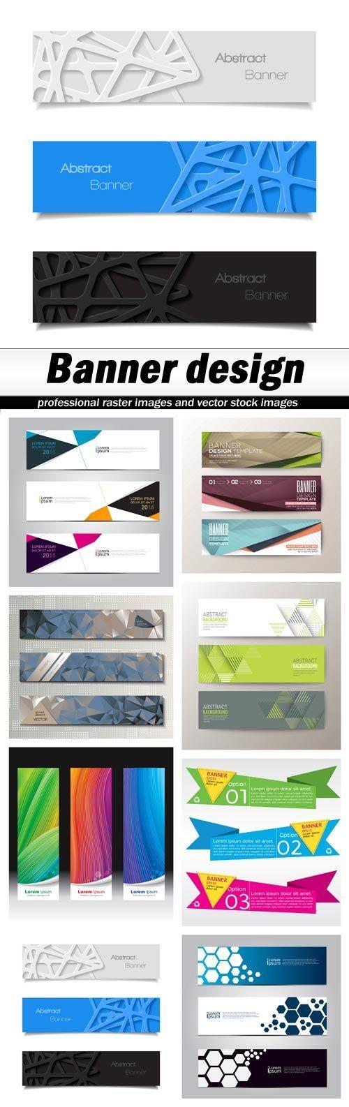 Banner design - 8 EPS