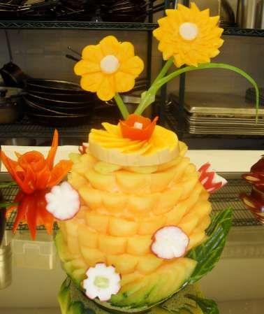1092 best food art 1 images on pinterest food art for Pineapple carving designs