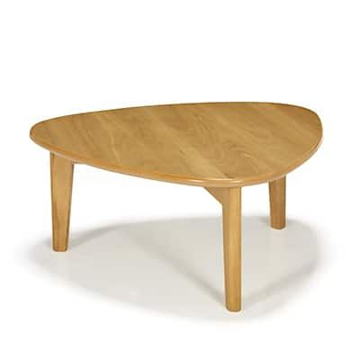Table basse triangulaire en chêne H27cm