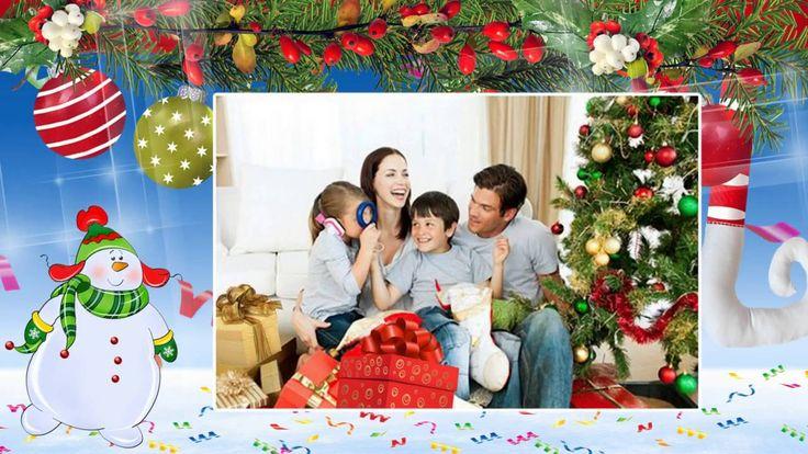 Видео #поздравление с Новым годом #семейный (Видео шаблон). #Видеопоздра...