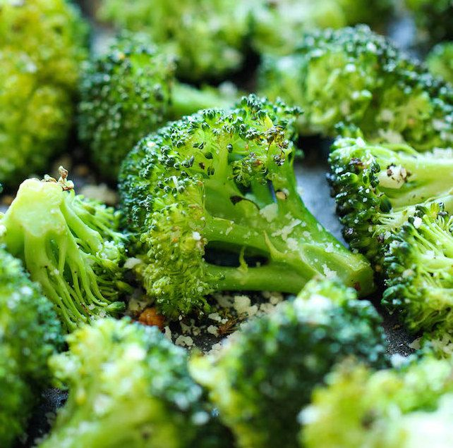 Parmesan Roasted Broccoli! Quick, Healthy, and you can probably guess the instructions lol :)