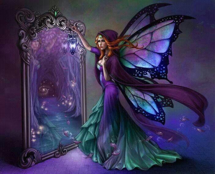 Fairy & mirror: