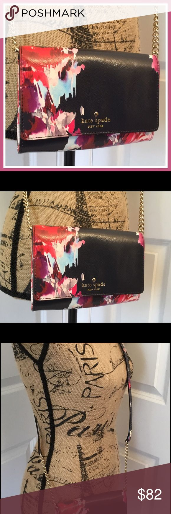 """Kate Spade Cedar Street Floral Cami Handbag NWT This is a brand new with tags Kate Spade Cedar Street Floral Cami Handbag.  Never used, but tags came tucked inside, not attached.  Measures about 5.7""""h x 6.5""""w x 0.8""""d, with a strap drop length of about 22.5"""".  (Small bag). It is made of printed glazed crosshatched fabric with matching trim and the quick & curious lining.  14-k light gold plated hardware.  Style # pwru4740. kate spade Bags Crossbody Bags"""