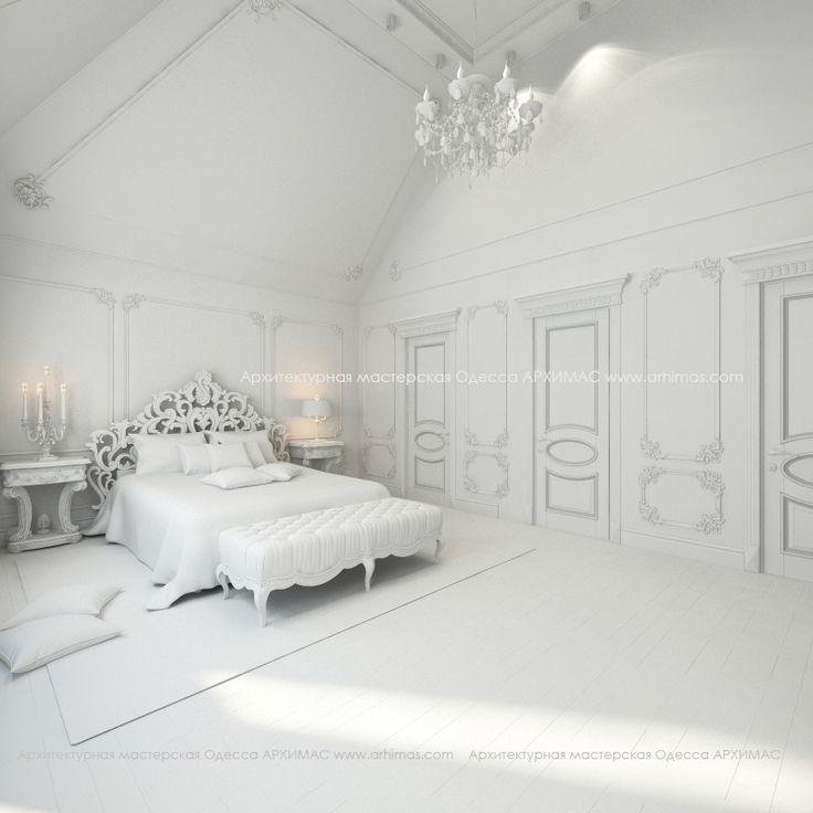 Визуализация интерьера спальня в жилом доме Нью-Йорк