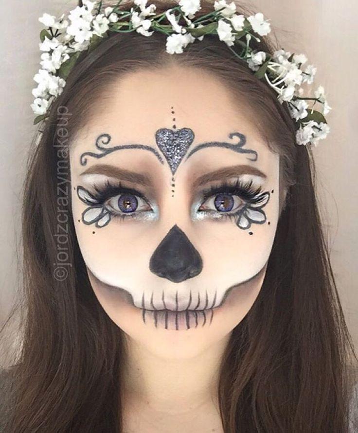 Easy Half Face Sugar Skull Makeup Tutorial Saubhaya
