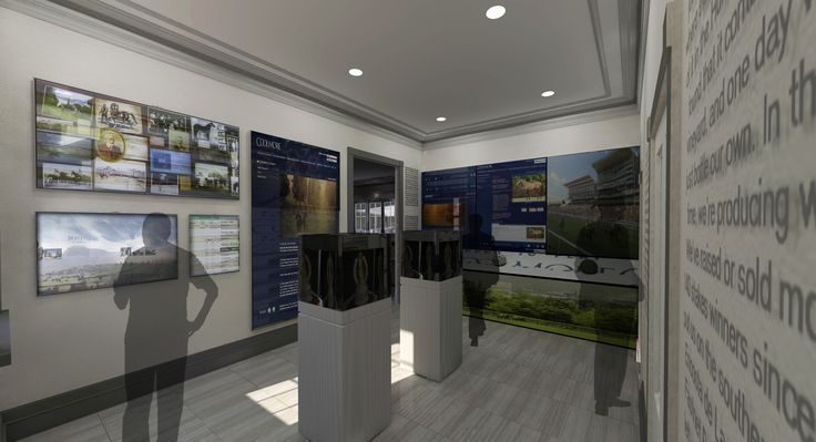 Artist's impression of the Museum at the Hunter Valley Horse Stud Offices looking east